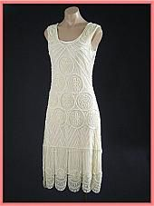 White Beaded 20s Reproduction Flapper Dress-1920s Style Wedding Dresses