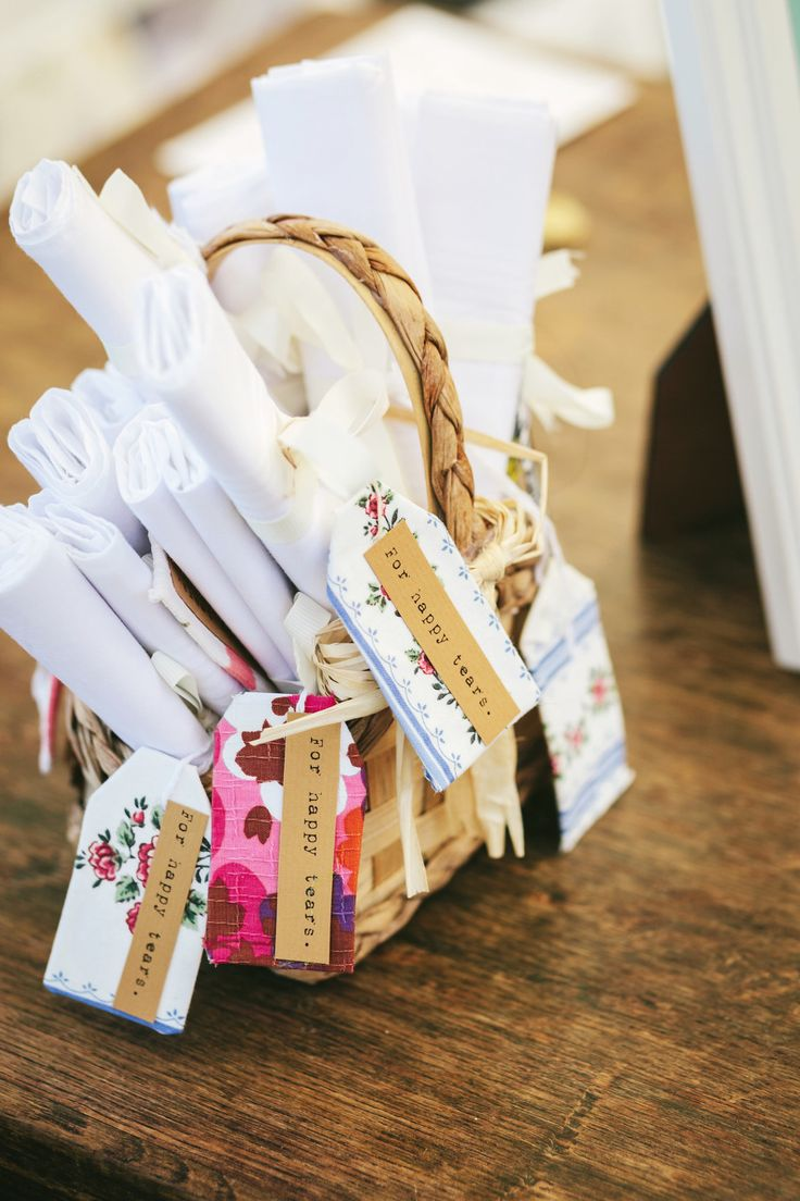 Hanky Favors for Happy happy tears -