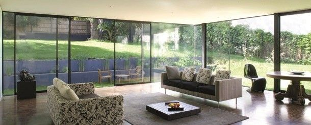 Glass doors: ODC 155 - Aluminium, Insulated Sliding System