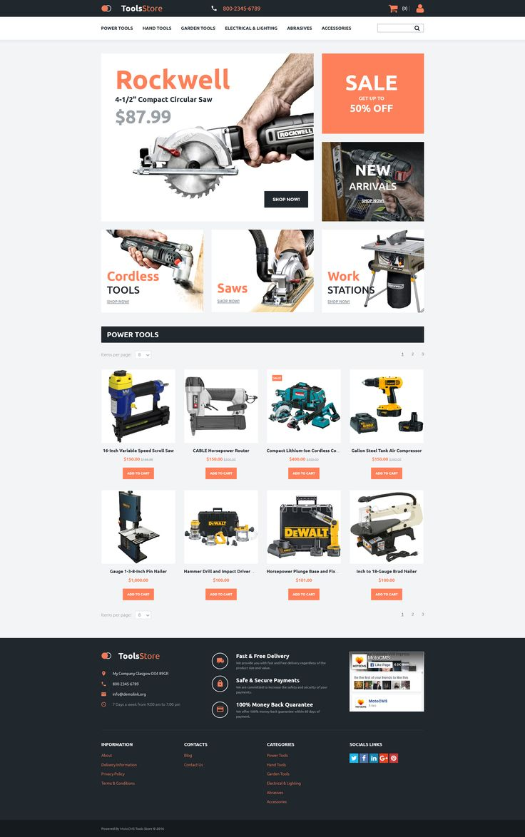 Tools & Equipment Responsive MotoCMS Ecommerce Template - http://www.templatemonster.com/motocms-3-template-exclusive/tools-equipment-responsive-motocms-3-template-exclusive-58999.html