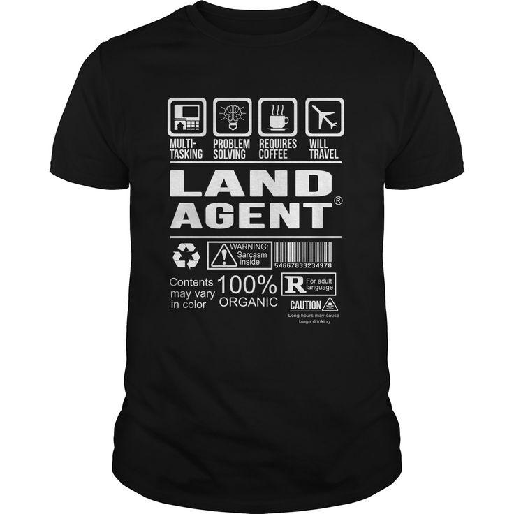 LAND AGENT T-Shirts, Hoodies. ADD TO CART ==► https://www.sunfrog.com/LifeStyle/LAND-AGENT-125276052-Black-Guys.html?id=41382