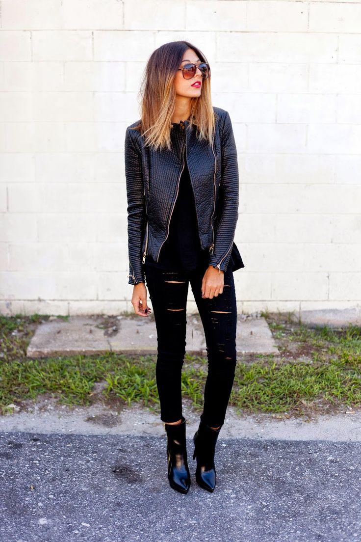 ripped black jeans :: zazumi.com
