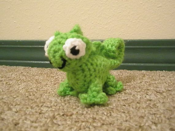 The Chameleon Pascal Tangled Rapunzel Small Available Now for you to love on Etsy, $11.50