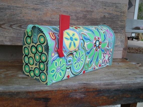 Fun Funky Painted Mailbox By Mizippihippi On Etsy 125 00