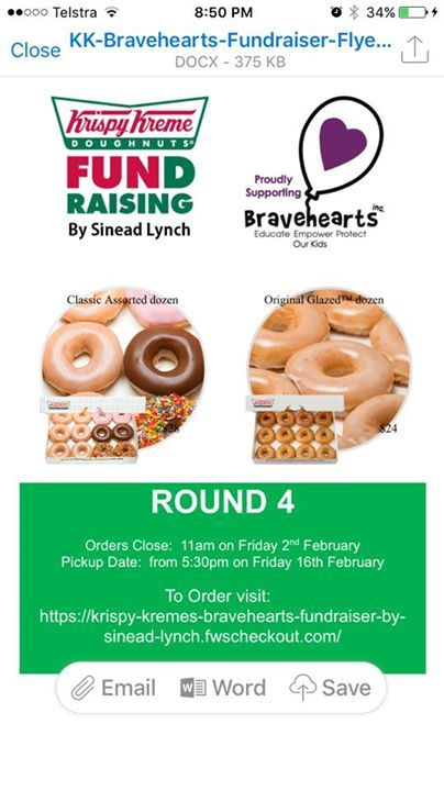 Orders for round 4 have just opened!!! I am continuing on my goal to raise $10,000 for Bravehearts, an organisation that help to educate, empower and protect our Aussie kids from sexual abuse!!!   Check out my Facebook page or order below....   https://krispy-kremes-bravehearts-fundraiser-by-sinead-lynch.fwscheckout.com/ #rangloo, #bar, #accessories