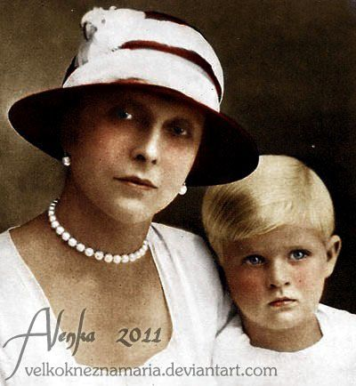 Princess Alice of Greece with her only son Prince Philipe - today husband of Queen Elizabeth II.
