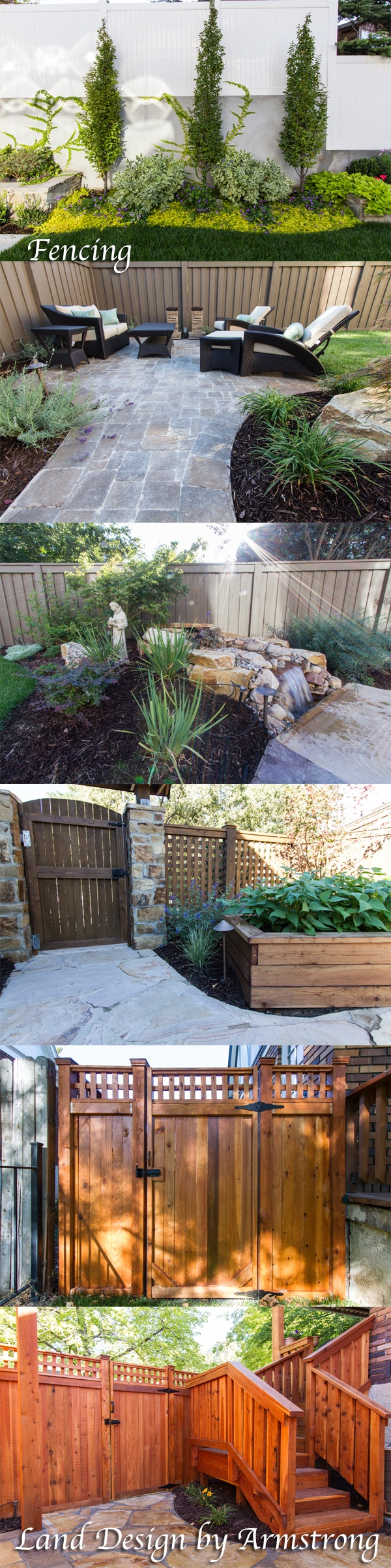Land Design By Armstrong Creates Beautiful Fencing To Enclose Your Landscape  Design In The Salt Lake. Landscaping IdeasBackyard ...