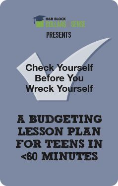 Creating a budget worksheet for high school students