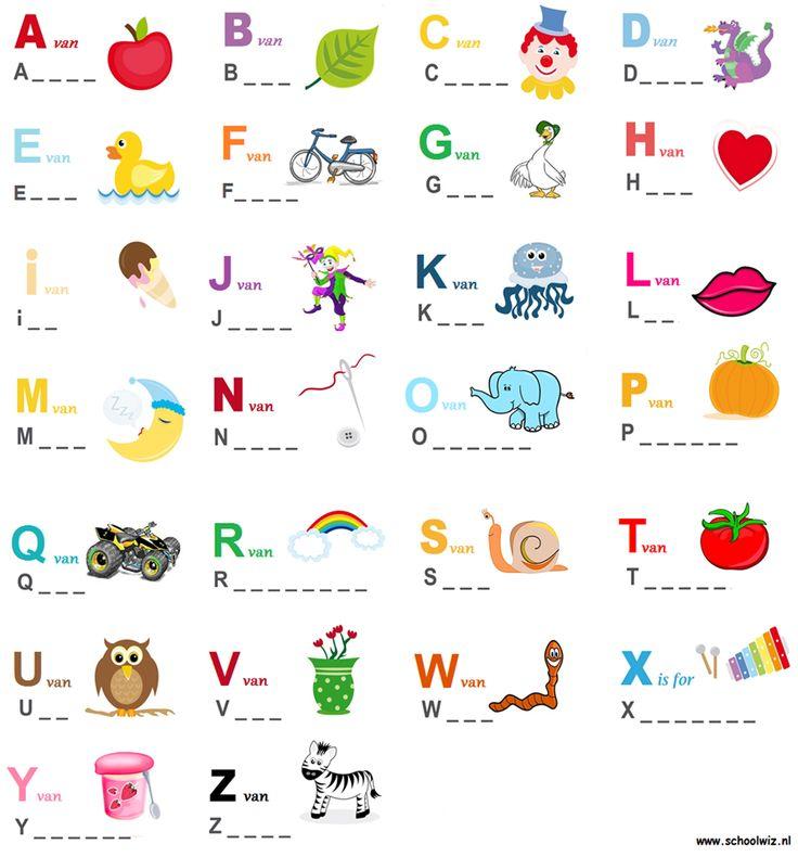 Alfabet, woorden maken