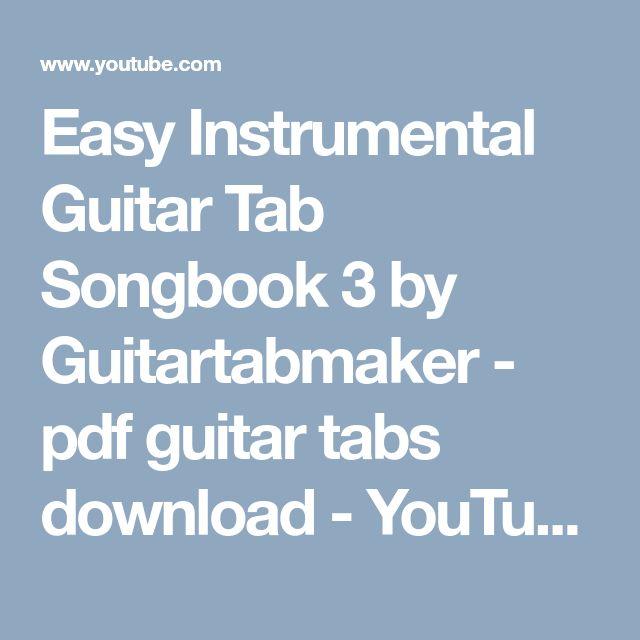 Easy Instrumental Guitar Tab Songbook 3 - pdf guitar tabs download - instrumental guitar songs collection