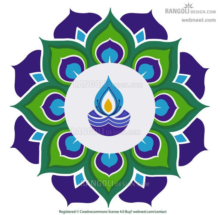 80 Best and Easy Rangoli Designs for Diwali Festival | Read full article: http://webneel.com/rangoli-designs-for-diwali | more http://webneel.com/design | Follow us www.pinterest.com/webneel