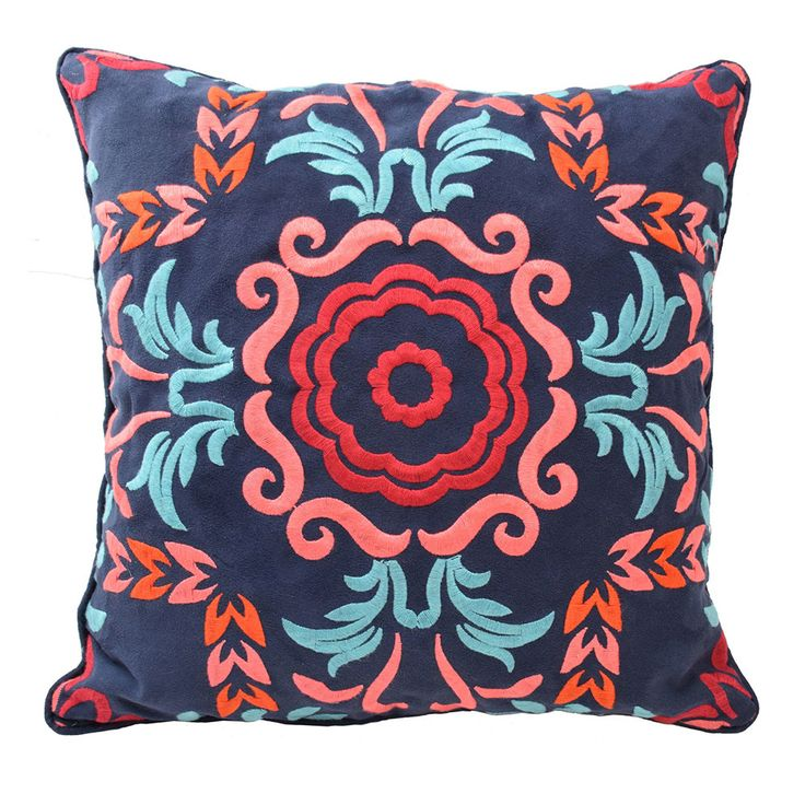 Blissliving Home Viva Mexico 18 by 18 inches Decorative Pillow, Multi