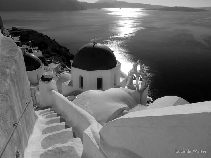 Santorini in the early 1900 in black and white. Oia, Santorini Island, Greece www.oiamansion.com