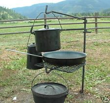 campfire cooking grate, grill, outdoor camping supplies