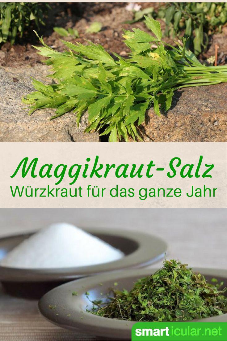 Nie mehr Maggi! Mit diesem Rezept stellst du aus Salz und frischem Liebstöckel…
