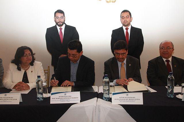 Organismo Judicial y CENDES firman carta de entendimiento