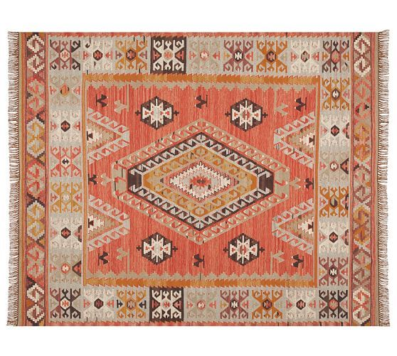 Cyndy Kilim Recycled Yarn Indoor/Outdoor Rug | Pottery Barn
