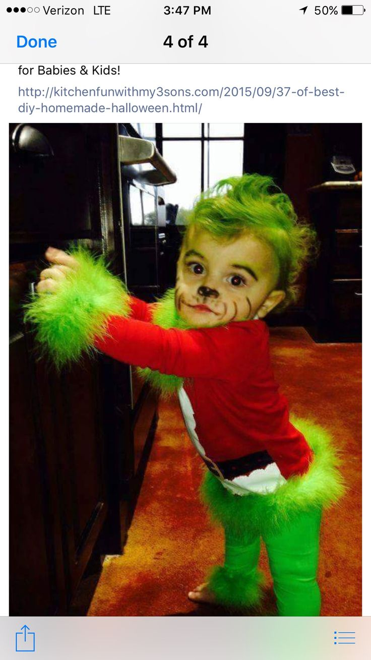 baby grinch costume these are the best halloween costume ideas for babies kids this would also be so cute for a christmas photo - Baby Grinch Halloween Costume