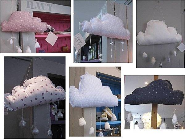 Les Pensées de Violette - Mobiles nuages-pompon-petillant