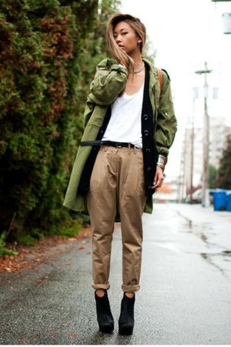 Khaki Pants Women Will Make You More Cool Style : Trendy Khaki Pants For Women