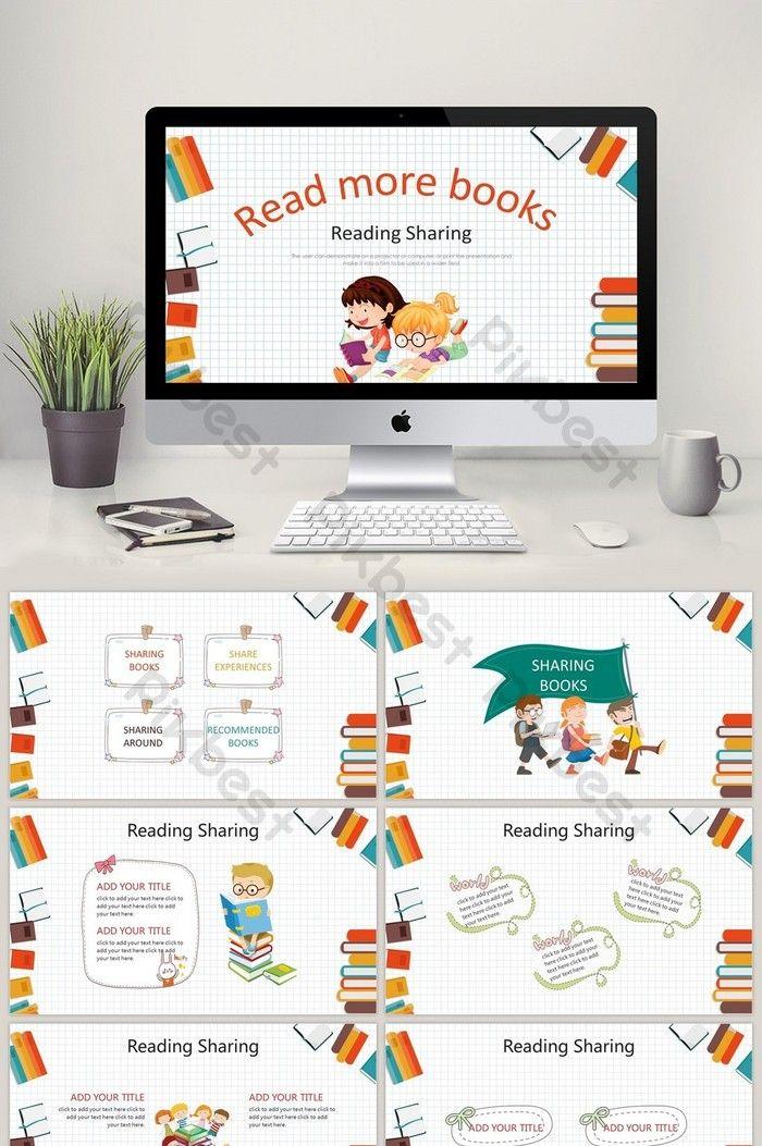 Kartun Anak Anak Membaca Template Pertemuan Berbagi Ppt Powerpoint Templat Pptx Unduhan Gratis Pikbest Templat Power Point Presentasi Anak