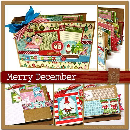Merry December ScrapScription.com December 2013 Mini Album Kit