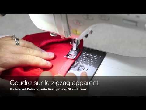 Techniques de couture Jalie - Comment coudre des élastiques - YouTube