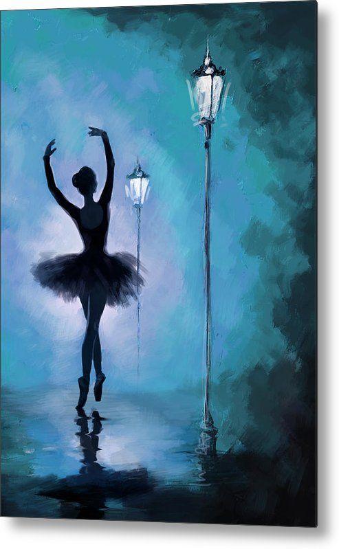 Ballet In The Night Metal Print