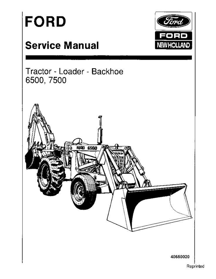 New Holland Ford 6500 7500 Tractor Loader Backhoe Workshop