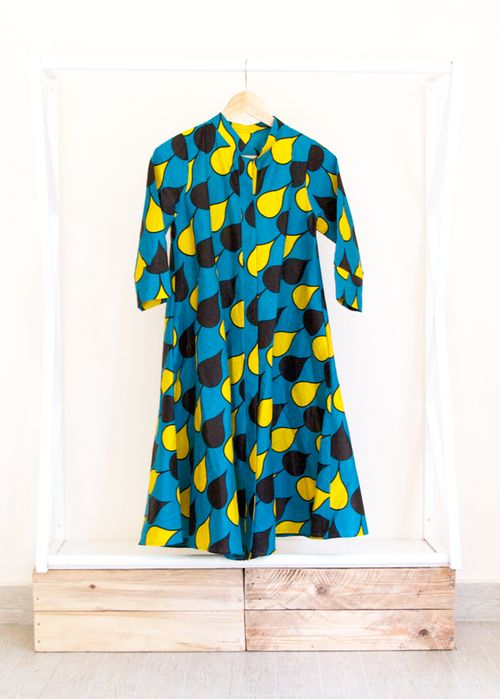 Spades dress in East African kitenge from Zuri Kenya