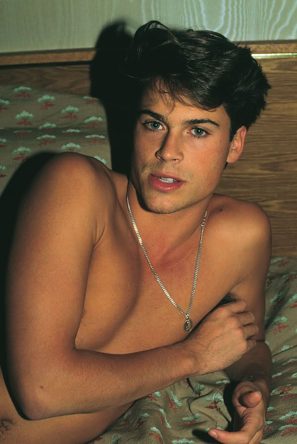 That time he laid in a bed with his lips parted and made you feel lots of feelings. | 27 Flawless And Perfect Photos Of Young Rob Lowe