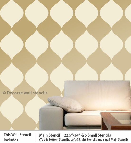 Best 75+ New wall stencils images on Pinterest | Wall stenciling ...
