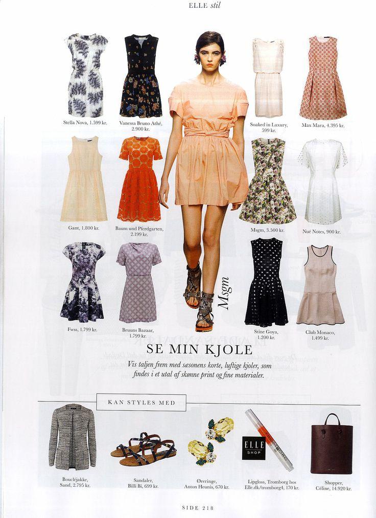 Soaked in Luxury dress in danish Elle magazine