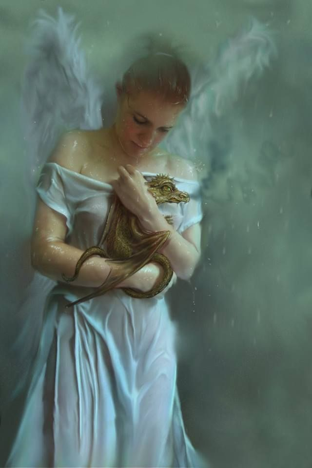 An angel and her dragon