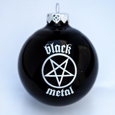 Black Metal Christmas Ornament