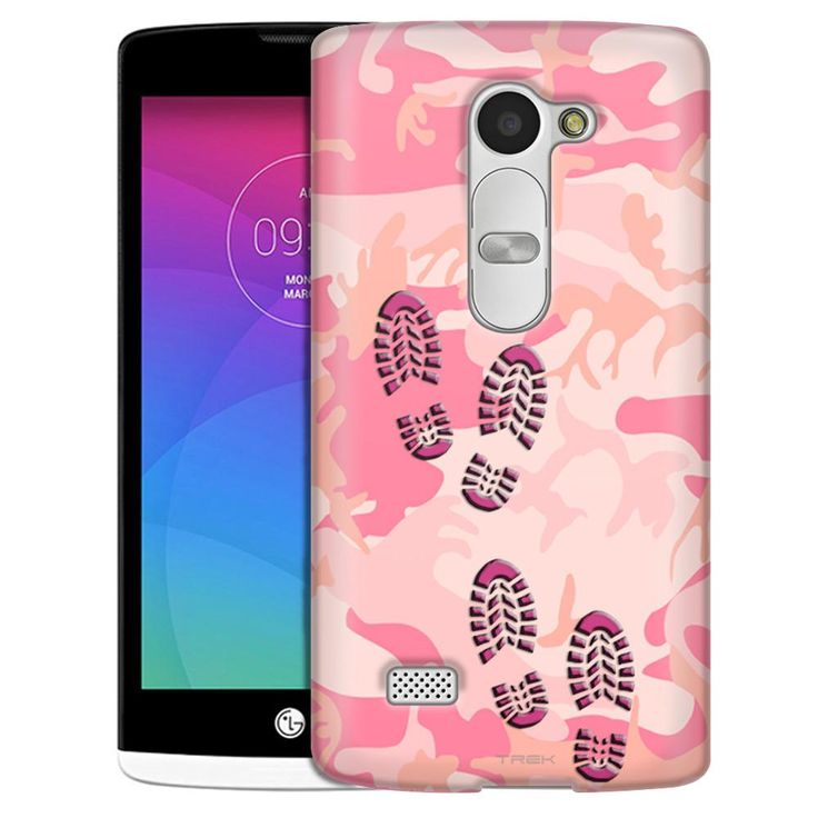 LG Leon Footprints on Pink Camouflage Case