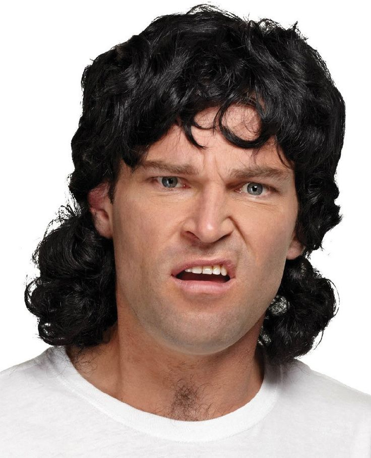 Costume Accessory: Mullet Wig Black