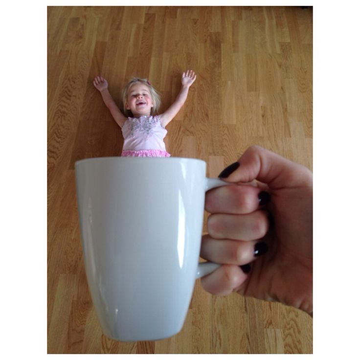 Baby in a cup