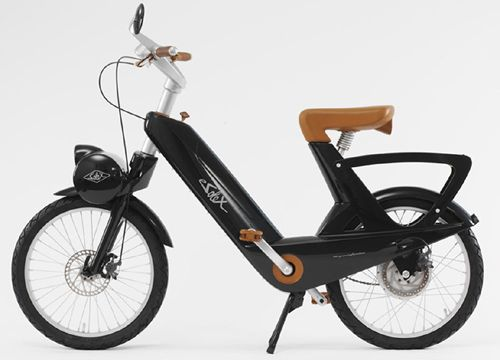 designed by pininfarina the iconic e-Solex #solebike #Athens e-bike tours #e-bike sightseeing
