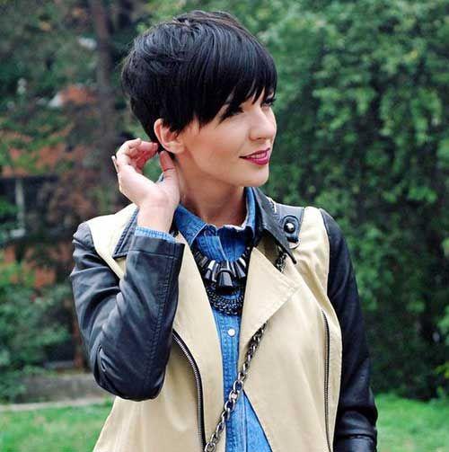 12.Dark Brown Short Haircut