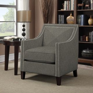 Shop for Portfolio Rome Basil Grey Linen Arm Chair . Get free shipping at Overstock.com - Your Online Furniture Outlet Store! Get 5% in rewards with Club O!