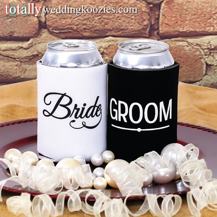 You will receive a FREE bride & groom can cooler with every online wedding can cooler order! #koozie