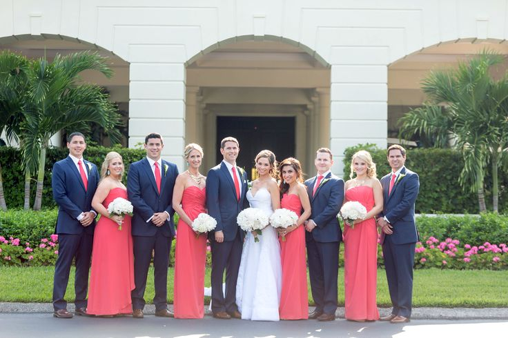 coral and navy blue wedding - Google Search                                                                                                                                                     More