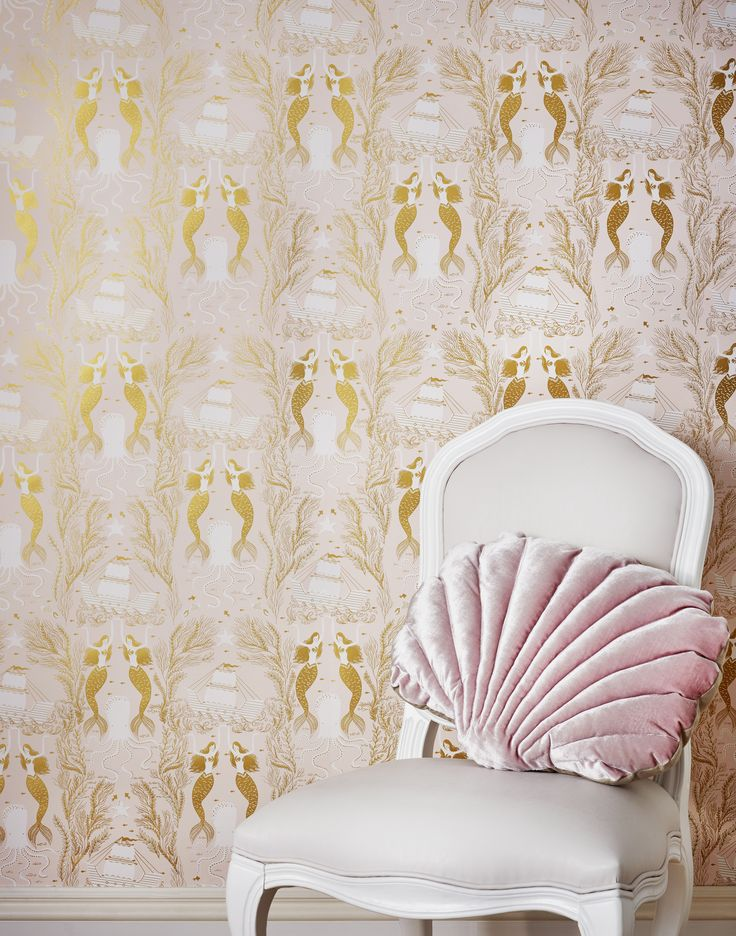Mermaids (Shell Pink) wallpaper