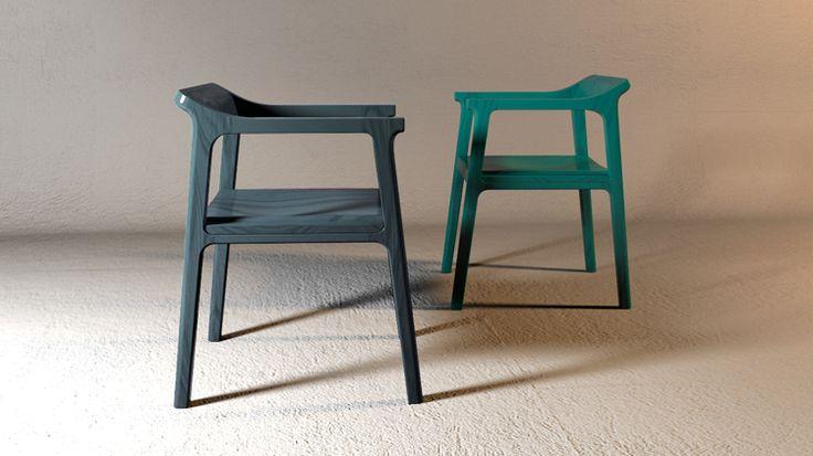 Ubone - arm chair Designer : Yangsue Pyo Material : ash wood Dimension : W 490, H 680, D 540   Atelier www.BU-Atelier.com Bemiel union www.Bemiel.com  Phone. +82-2-325-3254  e-mail. bemiel@bemiel.com