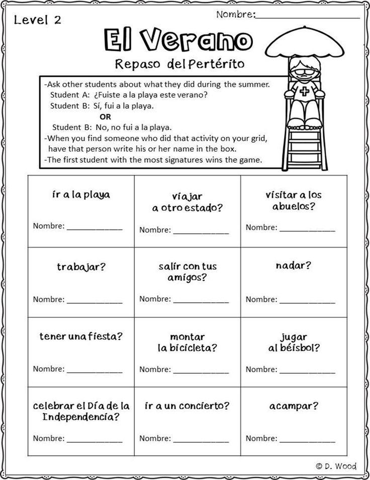 Back to School Spanish September Activity Pack (Actividades para Sept.)