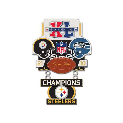 Super Bowl XL (40) Steelers vs. Seahawks Champion Lapel Pin