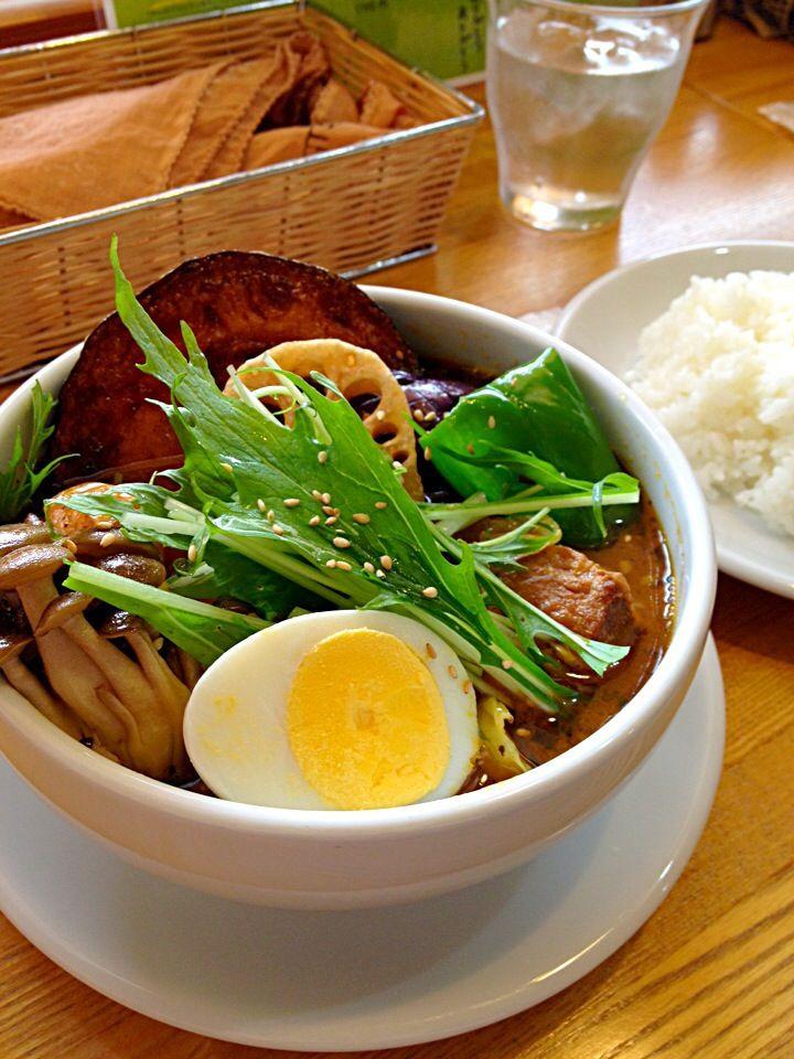 豚角煮ベジタブルスープカレー