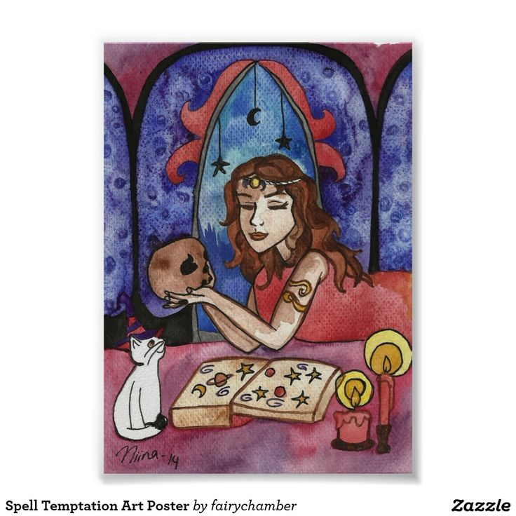 Spell Temptation Art Poster