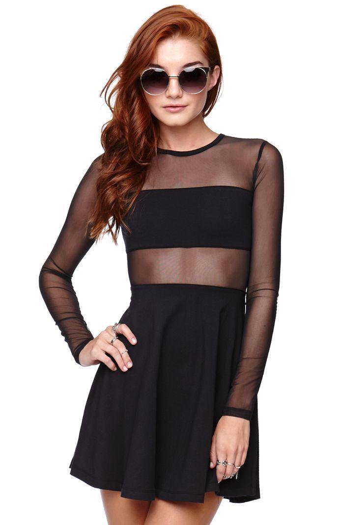 Kendall & Kylie Fabric Mix Skater Dress #kandk4pacsun